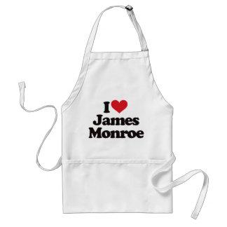 I Love James Monroe Adult Apron
