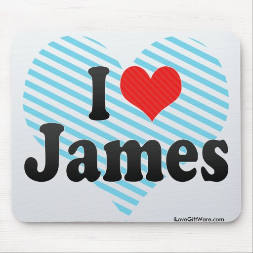 I Love James Mouse Pad