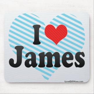 I Love James Mouse Pad