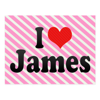 I Love James Postcard