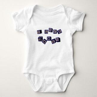I love James toy blocks in blue Baby Bodysuit
