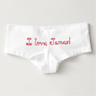 I love James! underwear Hot Shorts