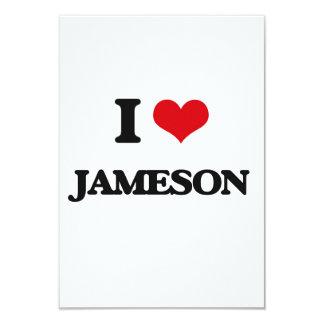I Love Jameson 3.5x5 Paper Invitation Card