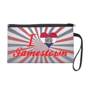 I Love Jamestown, Missouri Wristlet Purses