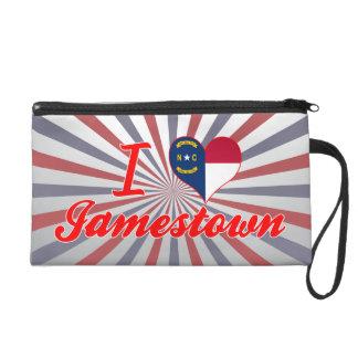 I Love Jamestown, North Carolina Wristlet Purse