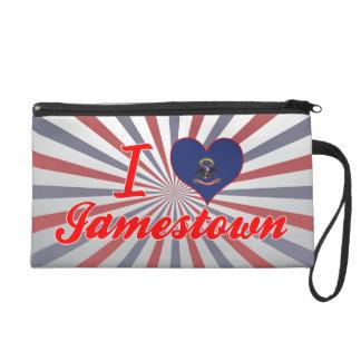 I Love Jamestown, North Dakota Wristlet Purses