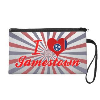 I Love Jamestown, Tennessee Wristlet Purses