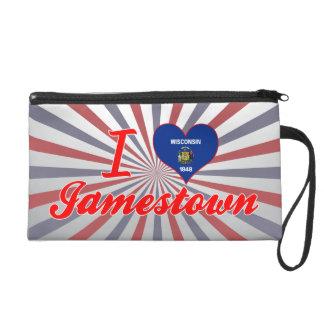 I Love Jamestown, Wisconsin Wristlet Purses