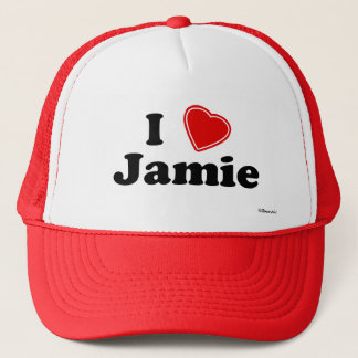 I Love Jamie Trucker Hat