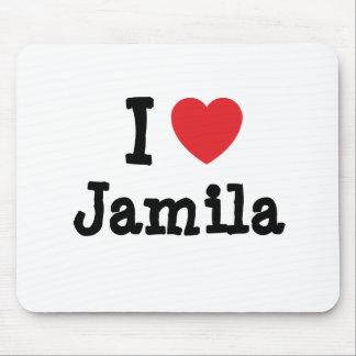 I love Jamila heart T-Shirt Mouse Pads