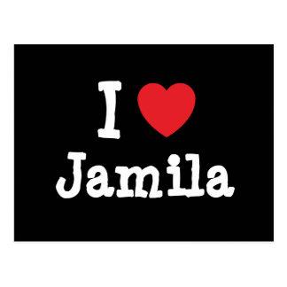I love Jamila heart T-Shirt Postcard