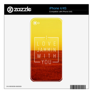 I love jammin with you Love Design Skin For The iPhone 4