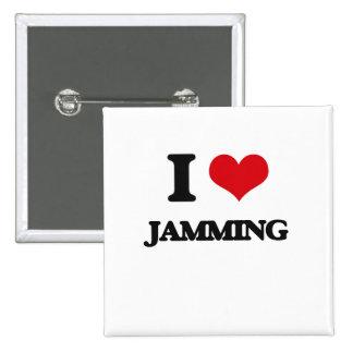 I Love Jamming 2 Inch Square Button