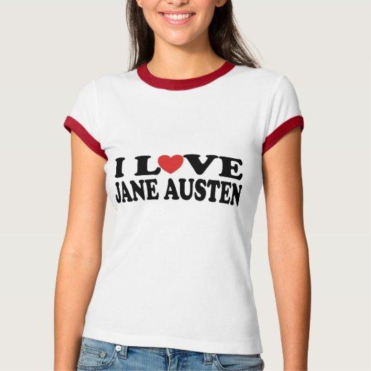I Love Jane Austen Book Lover Tee Shirt