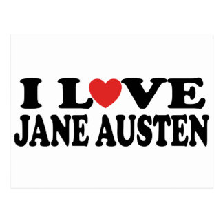 I Love Jane Austen Classic Postcard
