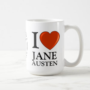 I love Jane Austen Heart Coffee Mug
