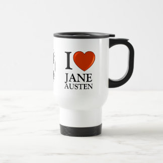 I love Jane Austen Heart Travel Mug