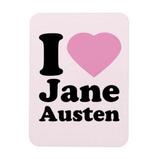 I Love Jane Austen Magnet
