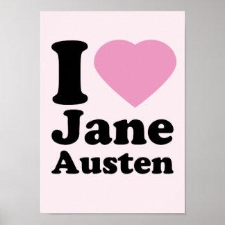 I Love Jane Austen Poster