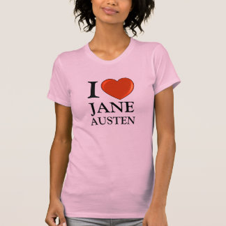 I love Jane Austen with Red Heart T-Shirt