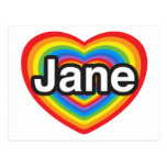I love Jane. I love you Jane. Heart Post Cards