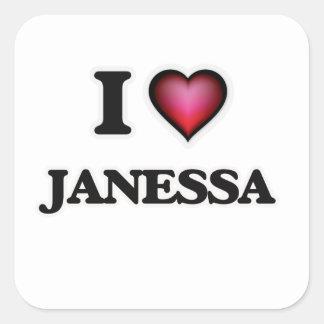 I Love Janessa Square Sticker