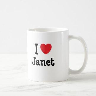 I love Janet heart T-Shirt Classic White Coffee Mug
