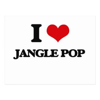 I Love JANGLE POP Postcard