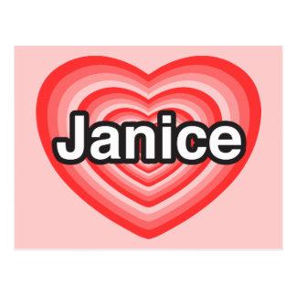 I love Janice. I love you Janice. Heart Postcard