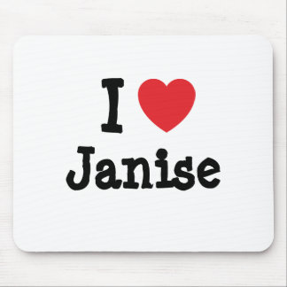 I love Janise heart T-Shirt Mouse Pad