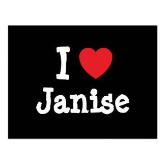 I love Janise heart T-Shirt Postcard