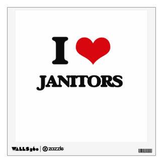 I Love Janitors Room Sticker