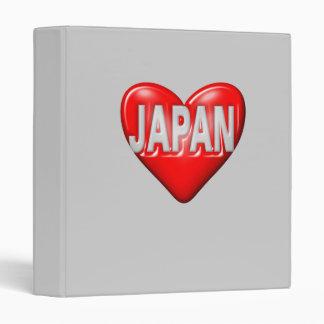 I Love Japan Vinyl Binder