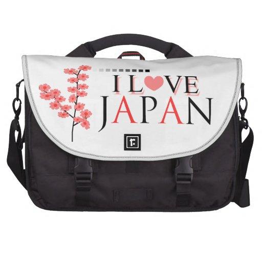 """""""I love Japan"""" design for Japan Lovers Bag For Laptop"""