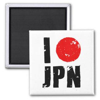 I Love Japan (I Love JPN) 2 Inch Square Magnet