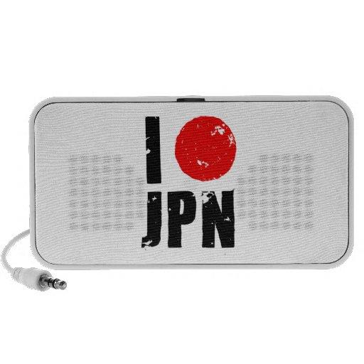 I Love Japan (I Love JPN) Portable Speakers