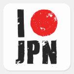 I Love Japan (I Love JPN) Square Sticker