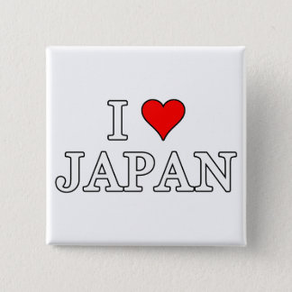 I Love Japan Pinback Button