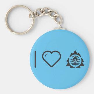 I Love Japan Prefectures Basic Round Button Keychain