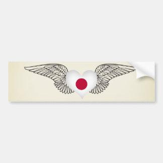 I Love Japan -wings Bumper Stickers