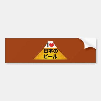I Love Japanese Beer Bumper Sticker