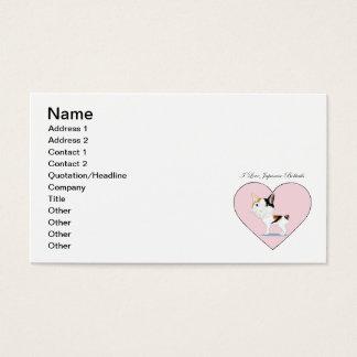 I Love Japanese Bobtails Business Card