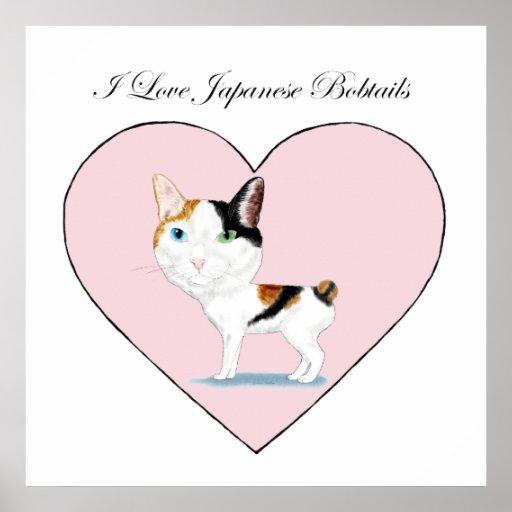 I Love Japanese Bobtails Poster