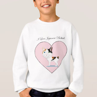 I Love Japanese Bobtails Sweatshirt