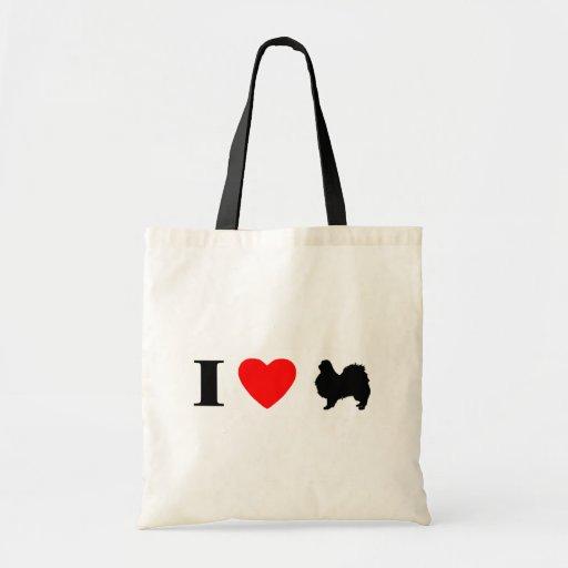 I Love Japanese Chins Bag