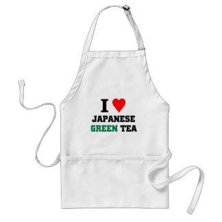 I love Japanese green tea Adult Apron