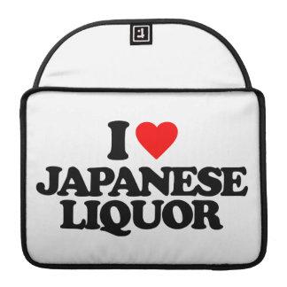 I LOVE JAPANESE LIQUOR SLEEVES FOR MacBooks