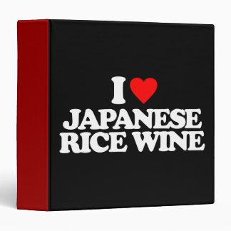 I LOVE JAPANESE RICE WINE VINYL BINDERS