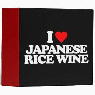 I LOVE JAPANESE RICE WINE VINYL BINDER