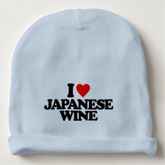 I LOVE JAPANESE WINE BABY BEANIE